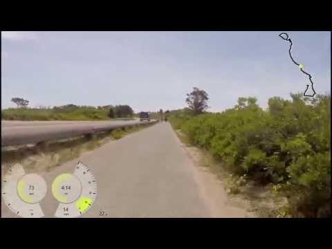 Long bike ride on Martha's Vineyard with 22 mph head winds!