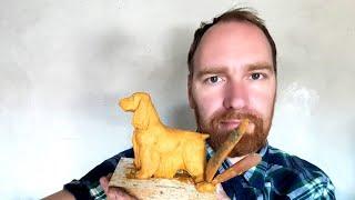 ❤ Скульптура леплю Американский Кокер Спаниель 🌟 Новый Проект по Скульптуре