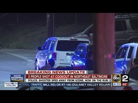 3 people shot at cookout in Northeast Baltimore
