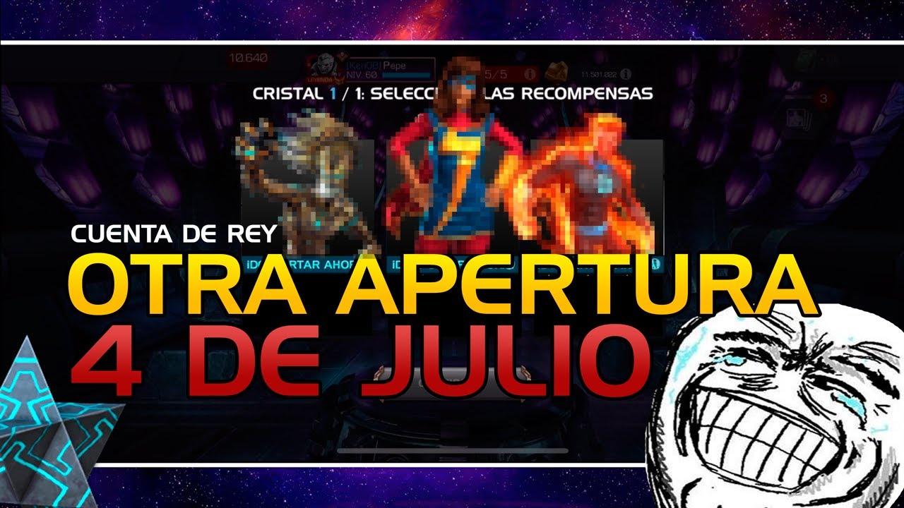 OTRA APERTURA DEL 4 DE JULIO (CUENTA DE REY) | Marvel: Batalla de superhéroes