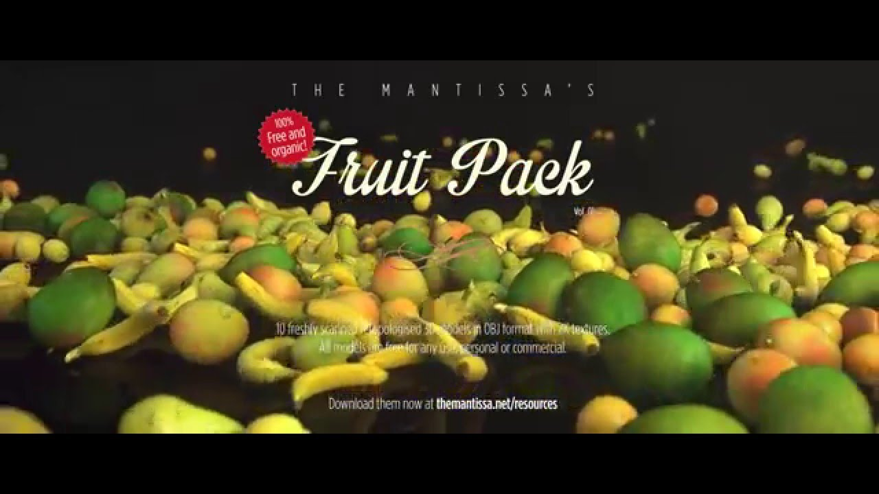 The Mantissa's Fruit Pack 01 (Free 3D Models)