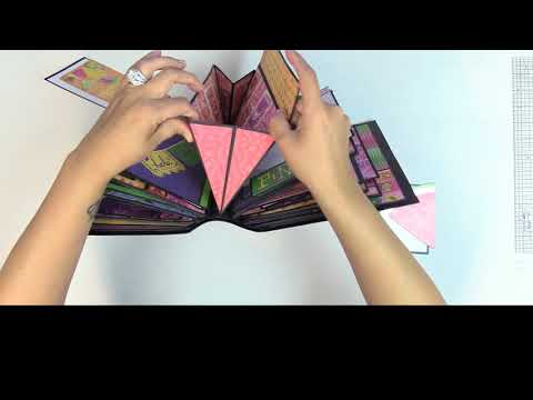 DIY Scrapbook with Pop up pages FlexCover with Pop up pages