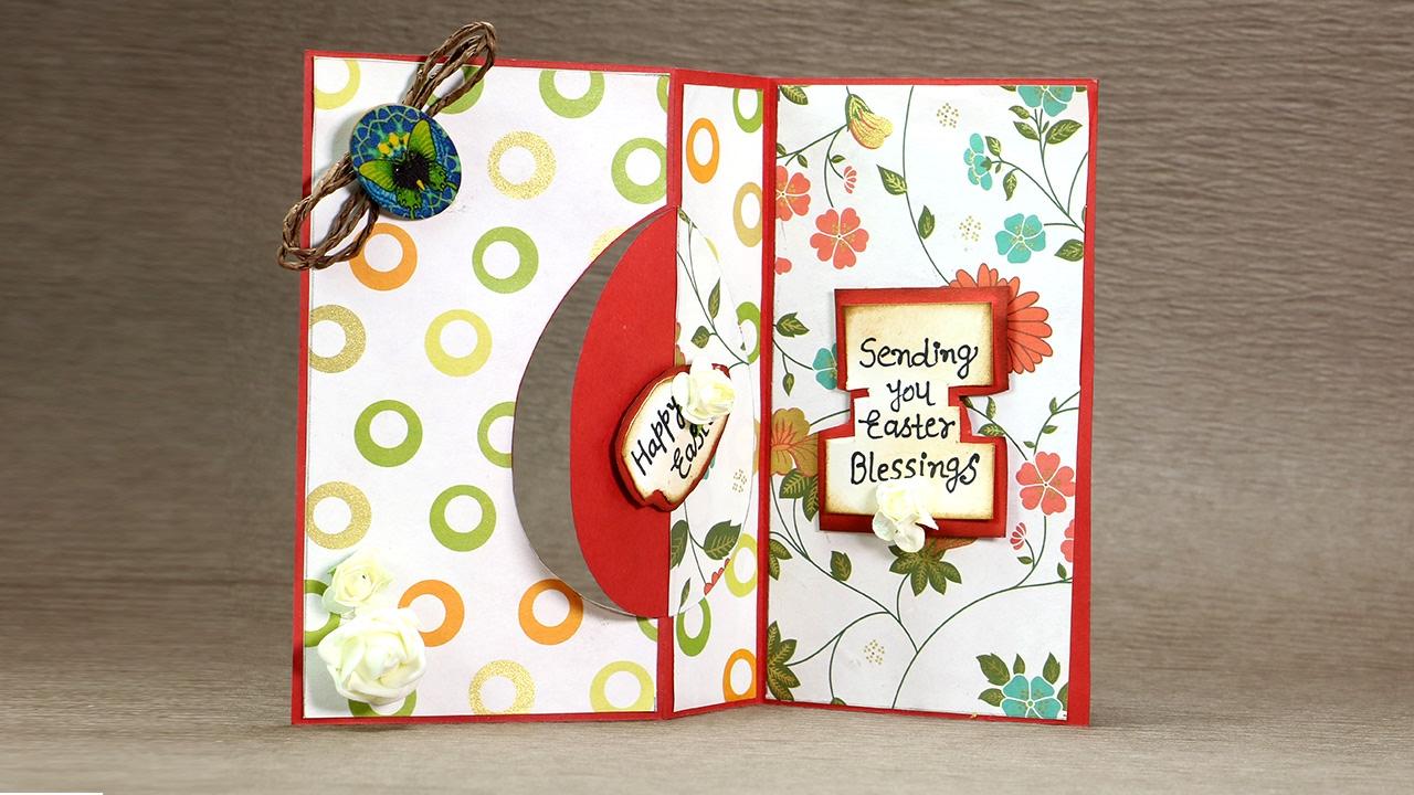 f336ca6fe Happy Easter Swing Card - DIY Easter Flip Card Tutorial - YouTube