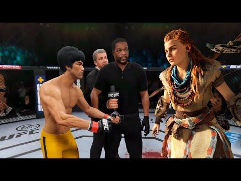 UFC 4   Bruce Lee Vs. Fighter Aloy (Horizon Zero Dawn) (EA Sports UFC 4)