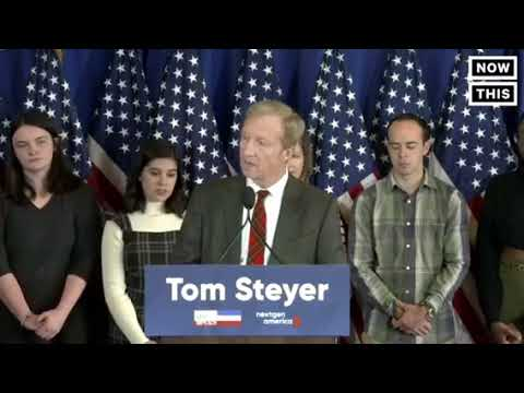 Billionaire Democratic activist Tom Steyer who is funding a national campaign calling f........