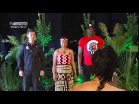 Usain Bolt scared by traditional Maori welcome