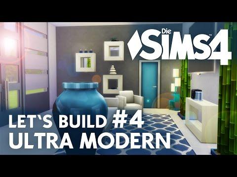 Die Sims 4 Let's Build Ultra Modern #4   Wohnzimmer