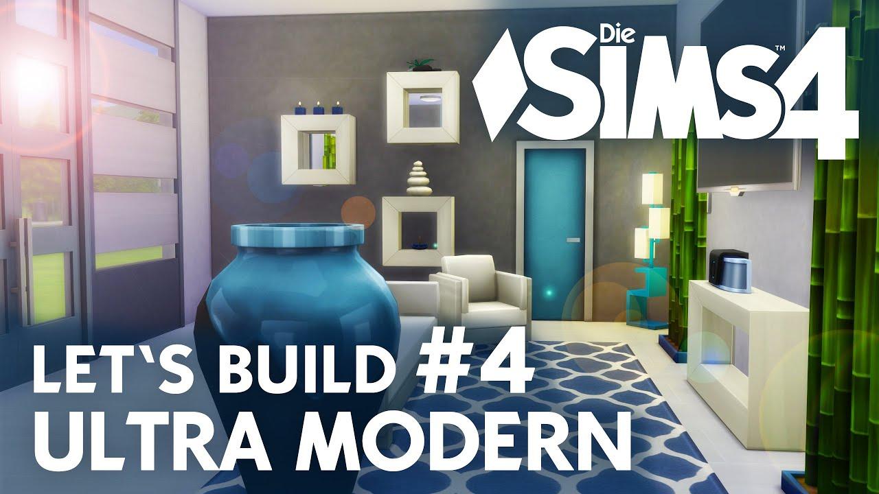 Die Sims 4 Let\'s Build Ultra Modern #4 | Wohnzimmer - YouTube