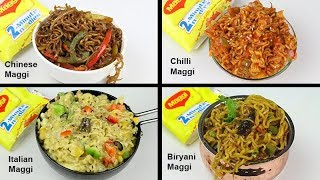 4 Most Unique Types Of Maggi | Biryani Maggi | Chilli Maggi | Chinese Maggi | Cheese Maggi