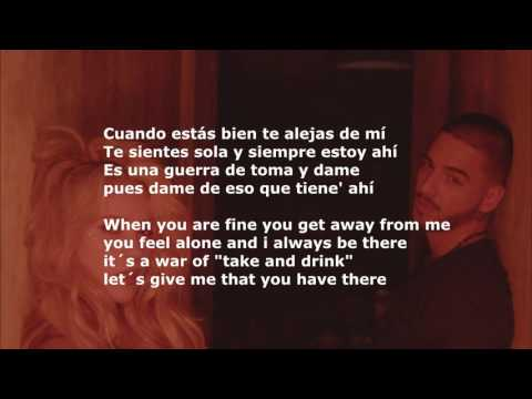 Shakira ft.maluma - chantaje ( lyrics for all )