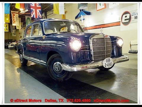 1960 Mercedes Benz 180b Ponton Edirect Motors Youtube