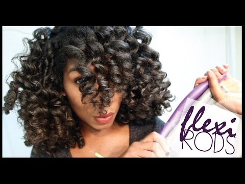 How To Cheat A Flexi Rod Set | EASY Technique Heatless Curls - Naptural85 Natural Hair