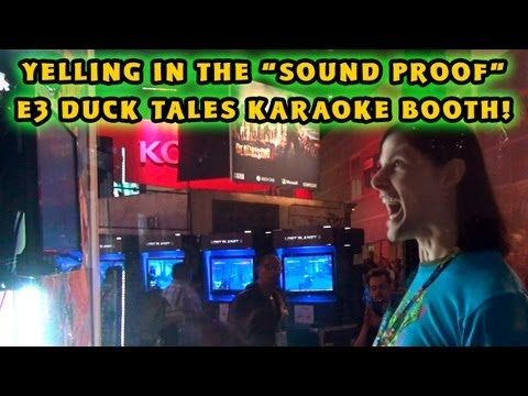 "Bonus E3 Video: Putting The ""Sound Proof"" DuckTales Karaoke Booth To The Test!"