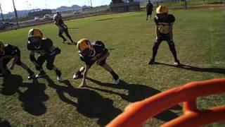 Henderson Longhorns helmet cam vs Panthers nys spring midget division 10u youth football 4/6/13