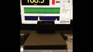 Wireless Bass Meter(Second Edition) connected to iPAD using Measuring Center for IOS