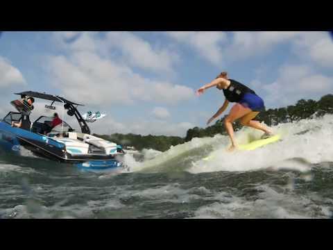 AMAZING Wakesurfing! Jordan Wolfe and Taylor Wolfe!!! 2017 Malibu 24 MXZ