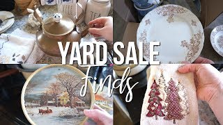 Yard sale finds and decorating with them!!