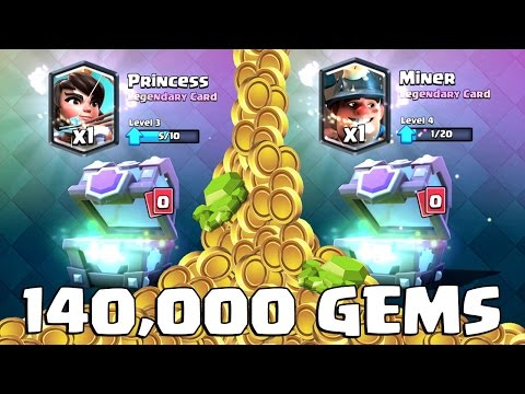 140,000 GEMS 24 SUPER MAGICAL CHESTS 650,000 GOLD | Clash Royale