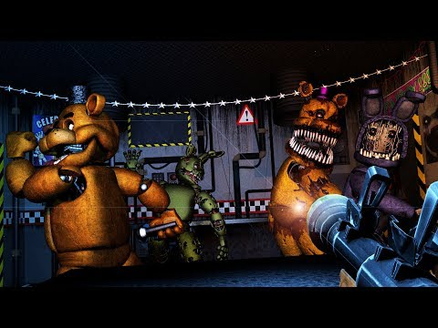 [FNAF SFM] FNAF 6 Ultimate Custom Night | Cheating & Counter Jumpscares All Animatronics