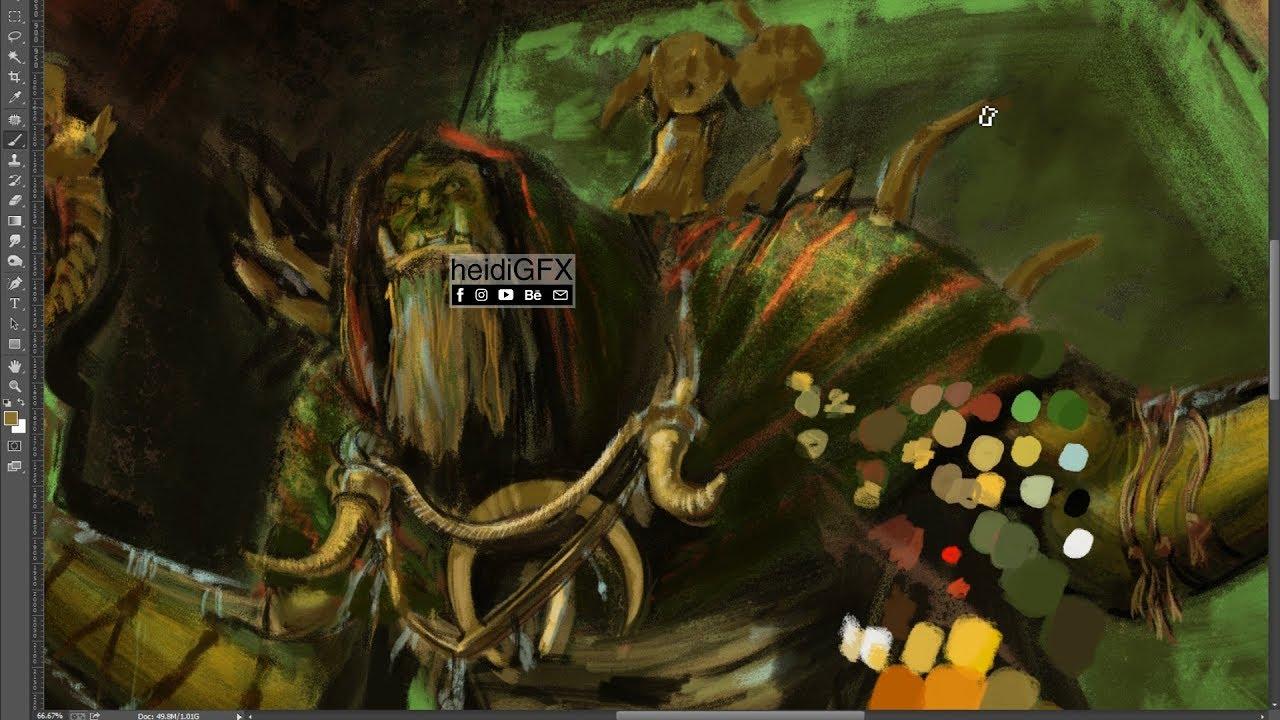 gul dan digital painting wip world of warcraft fan art 1 minute