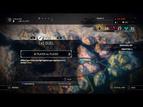 For Honor stream, choose my characters-PS4