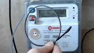 Остановка электросчетчика  НИК2301(в данном видео показано как можно остановить электронный электросчетчик без применения магнита., 2016-03-15T20:50:52.000Z)