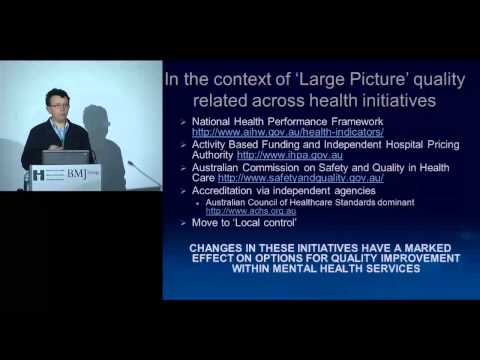 2012 Paris Presentation - Benchmarking and comparisons integrate quality and costs
