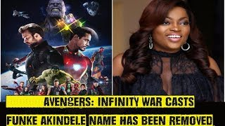 Funke Akindele's Name Removed From Avengers Infinity War Casts?