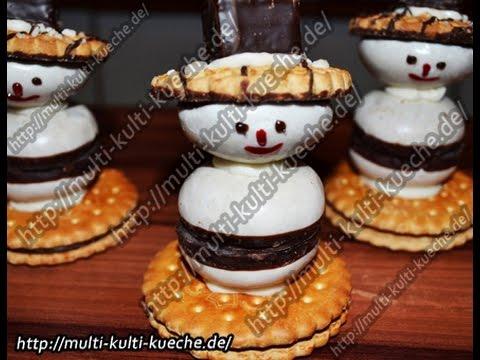 rezept rezepte schneemann kekse snowman cookies cookie biscuit youtube. Black Bedroom Furniture Sets. Home Design Ideas