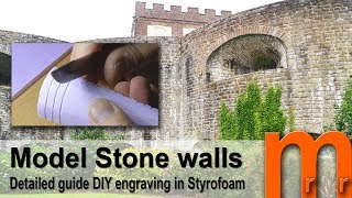 Tutorial - Realistic Stone walls and platforms for diorama