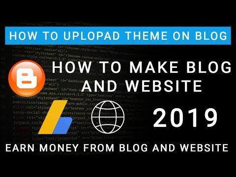 How To Upload/update Blog Theme. How To Edit Blog Theme.