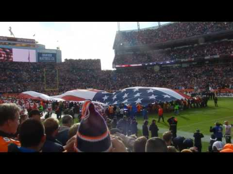 US national anthem at The Mile High Stadium - Denver Broncos