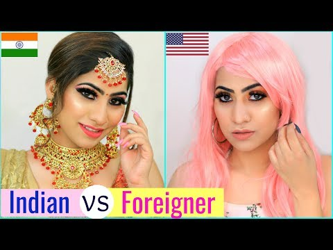 INDIAN vs FOREIGNER MAKEUP Challenge ... | #Fun #Tutorial #Anaysa thumbnail