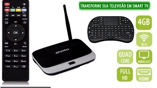 unboxing e review google smart tv box android tv quad core mxq lg sansung led