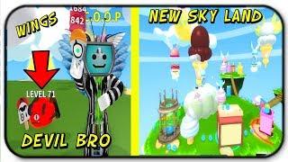 *Codes* New! Best Pet, Wings, And Sky Land Area - Roblox Ice Cream Simulator *Devil Bro*