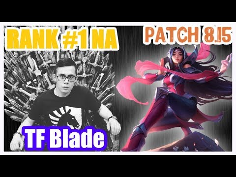 TFBlade   IRELIA vs AKALI   IRELIA Top   TF Blade RANK 1 NA Challenger Gameplay   Patch 8.15