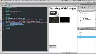 Working with HTML images in code and using Dreamweaver as a text editor