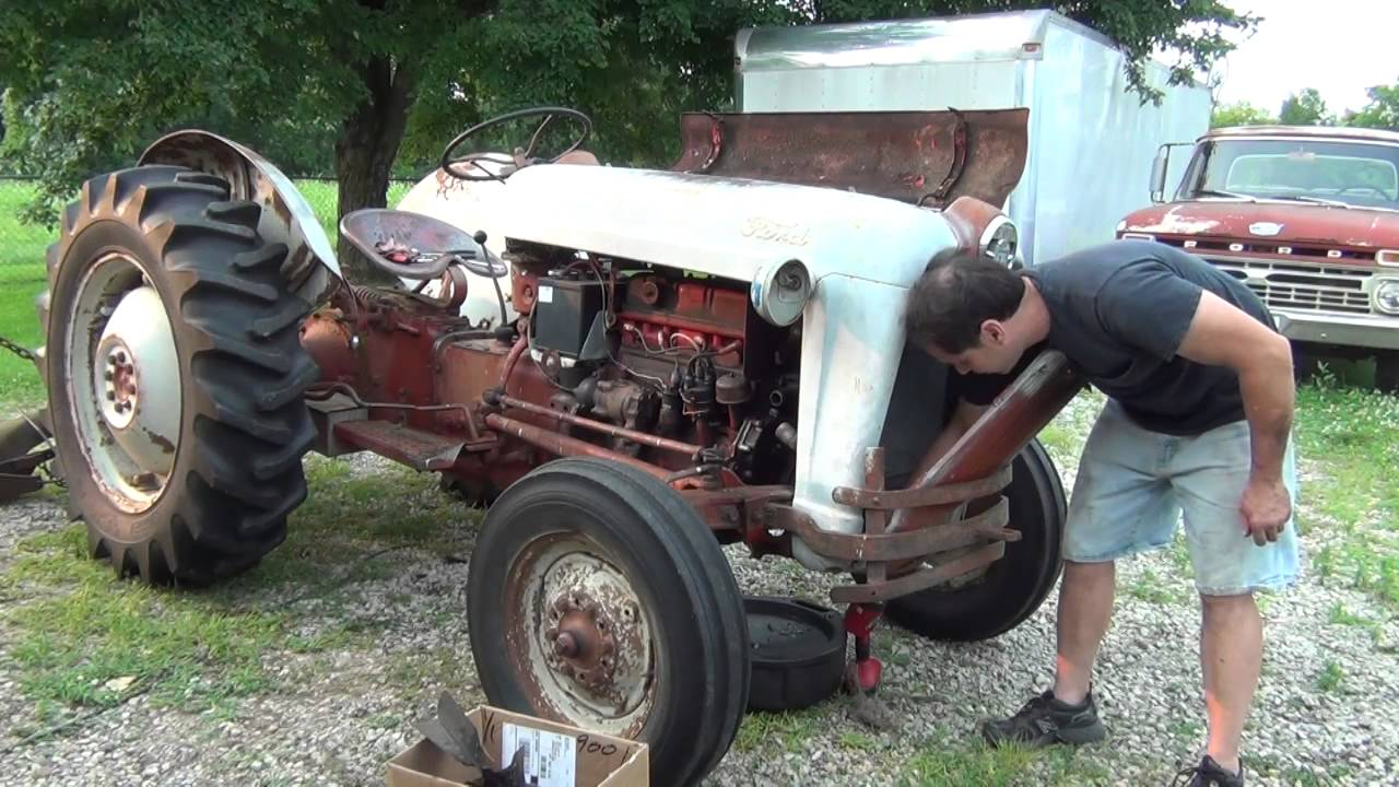 Ford 600 Tractor Parts Diagram Hood Electrical Wiring Diagrams 5000 Water Pump Replacment On The Part 1 Youtube
