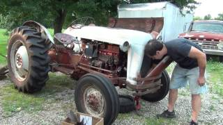Water pump replacment on the 600 ford tractor. Part 1