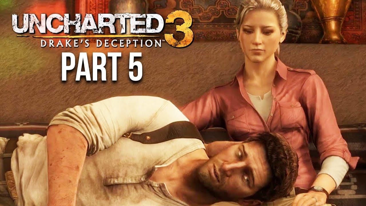 UNCHARTED 3 DRAKE'S DECEPTION soluce partie 5 - ELENA EST DE RETOUR (PS4) + vidéo