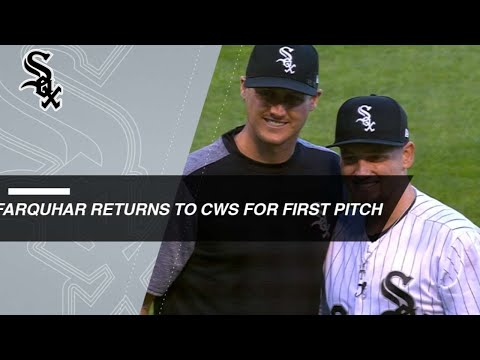 Farquar tosses ceremonial first pitch for White Sox