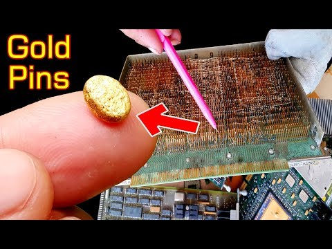 Recovery Gold plated Pins connector scrap electronics circuits board old,Precious metal recycle gold