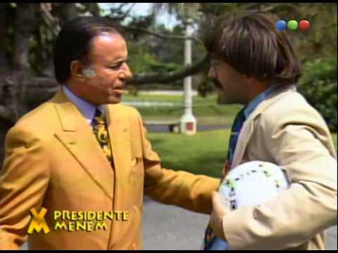 Figuretti con Carlos Menem - Videomatch 97