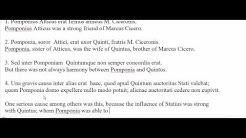 Quintus Cicero et Pomponia Paragraph 1