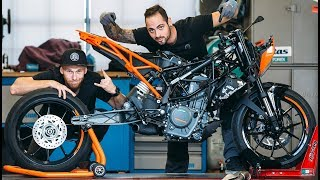 BUILD OF  STUNT BIKE, pt  1 | 2017 Duke 250 | RokON VLOG #32