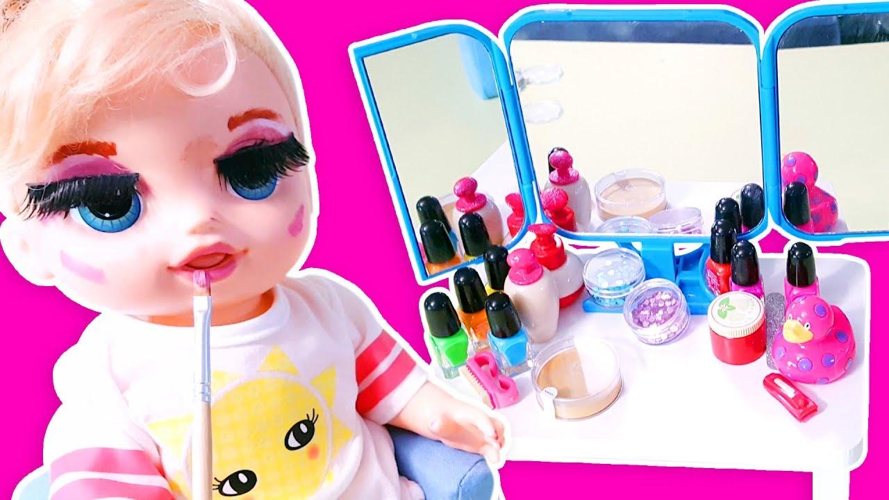 Baby Alive Oyuncak Bebek Ile Yüz Boyama Bebek Videoları Oyuncak