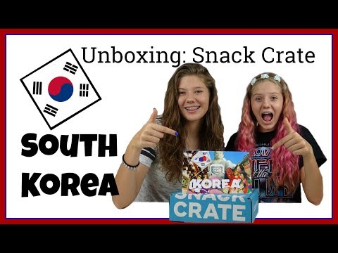 SNACK CRATE UNBOXING || AMERICANS TRYING SOUTH KOREAN SNACKS AND SWEETS || Taylor and Vanessa