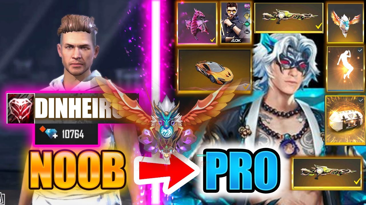 Free Fire new account to *PRO* 10k diamonds - look how it became😱🔥