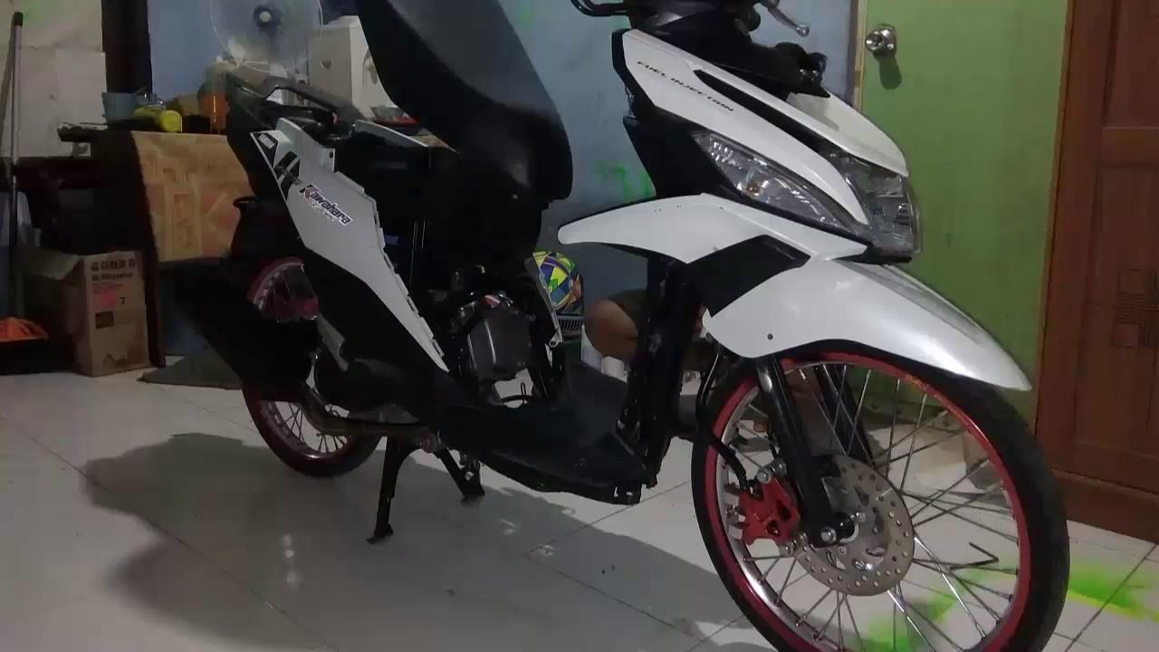Modifikasi Yamaha Mio M3 125 Jadi Maxi Scooter Ala Pembalap Adi