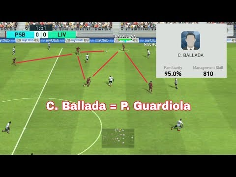 "How to use ""C. BALLADA"" - Test Match PES 2018 MOBILE"